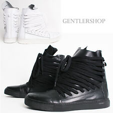 Avant-Garde Mens Shoes High Top Wrapped Strap Leather Sneakers 0397, GENTLERSHOP