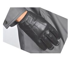 NEW MEN'S 100% REAL LEATHER POLICE GLOVES / DRIVING GLOVES
