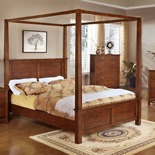 Canopy Bed King Size King Bedroom Furniture Bed Frame with corner posts #F9277
