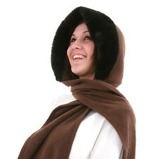 Ladies Fleece Hood With Faux Fur Wrap Around Scarf 3 colours fast post 1st class