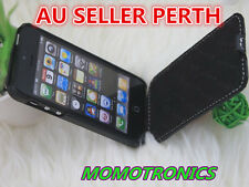 Plain Black Ultra Slim PU Leather flip pouch cover Case For iPhone 5/5s man