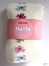 Gymboree Chelsea Girl White Flower Pink Blue Green Tights 0-3-6 5-6-7 8-9 NWT