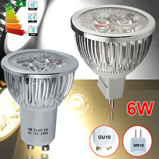 4/10/12 x 6W LED Bulbs High Power GU10 MR16 Day Warm White Light Spot Bulb Lamp
