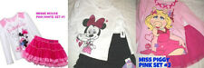 * NWT NEW GIRLS 2PC DISNEY MINNIE MOUSE MISS PIGGY SKIRT OUTFIT SET 3T 4 5 6x