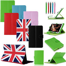 "Folio Stand Leather Fold Flip Cover Case For 7"" Inch Android Tablet PC Free Gift"