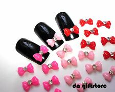 Pink Red Bownot Resin 3D Nail Art Cell phone Decoration Cabochon #DA166