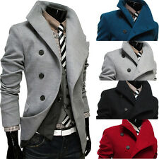 New Men's Trench Warmer Coat Winter Long Jacket Double Breasted Overcoat SR704