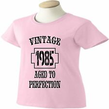 30th Birthday T-Shirt 30 Years Old Vintage 1985 Aged To Perfection Womens