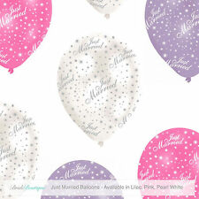 Just married wedding party Venue DECORAZIONI perlescenti lusso Lattice Palloncini