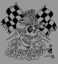 Gearhead® Motorskull Mens T Shirt Hot Rod Punk Rock Greaser Tattoo Rockabilly