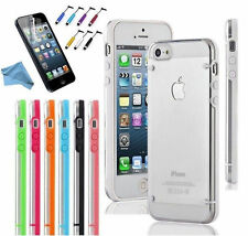 Glow Ultra Thin Transparent Clear Hard Plastic TPU Shell Case For iPhone 5 5S