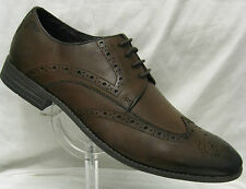 Mens Clarks Chart Limit Brown Leather Brogue Style G Fitting