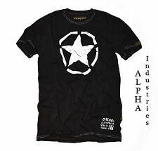 T-Shirt by Alpha Industries *STAR Tee black* Star vintage Patch *NEU