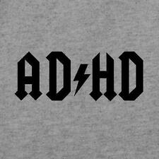 Brand New AD/HD Shirt, Mens & Fitted Womens Sizes, ADHD AC/DC Parody Shirt, ACDC