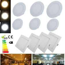 6/9/10/12/15/18/20/24/33W Square/Round LED Recessed Ceiling Panel Down Lights