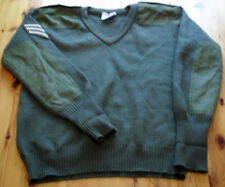 British Army Surplus Jumper Plain Pullover Olive Green Wool Military Clothing