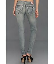 NEW $329 True Religion Jeans Stella Super T Grey Skinny Lowrise Denims 28, 29