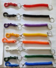 New - Spiral - Stretchy - Coil Keyring - Stretchy Key Ring - Various Colours