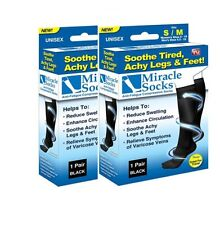 2 PAIR Miracle Socks Casual Anti Fatigue Compression Socks As Seen On TV