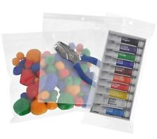 Assorted Clear Ziplock bags HANG HOLE Reclosable Plastic Small to Big 2mil-4mil