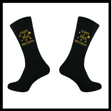 MENS BIRTHDAY FUN SOCKS 18TH 21ST 30TH 40TH 50TH 60TH 65TH 1 PAIR