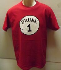 Drunk 1-2-3-4-5-6- Drinking Adult T-Shirt SM To 5XL