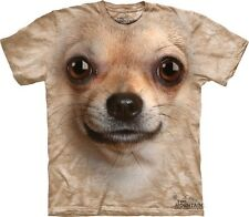 Big Face Chihuahua T-Shirt from the Mountain Company.  Dog Head Tees S-3XL NEW