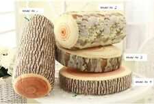 Decorative Wood Columns / Log pillow/Green log pillow/Travel Cushion/Four design