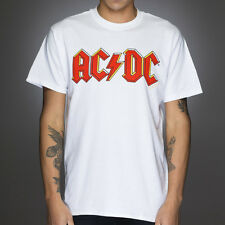 OFFICIAL AC/DC - Classic Logo White T-shirt NEW Licensed Band Merch ALL SIZES