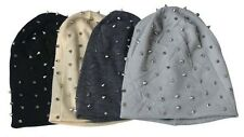 1PC Unisex Hip-hop Style Baggy Beanie Spike Studs Rivet Cap Hat 4 Colors