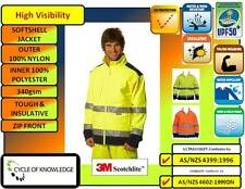 SW29 High VIsibility Safety Workwear; Safety Jacket; 3M tapes; Polyester lined