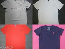 Boys RALPH LAUREN crew neck T-Shirt red navy blue white grey 2 - 20 yrs GENUINE