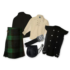 KIDS' KILT PACKAGE - 'CHIEFTAIN' 7PC OUTFIT - BLACK WATCH - SIZE OPTIONS!