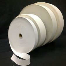 """White/Black 1/2""""- 4"""" Inch Wide Knit Knitted Elastic Trim -Loose 3/5/12/24/50 Yds"""