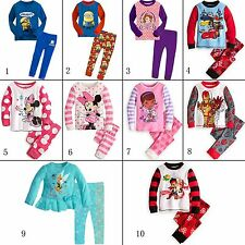New long sleeve Sleepwear Pajamas Sets Toddler Kids Boys Girls Children Size 2-7