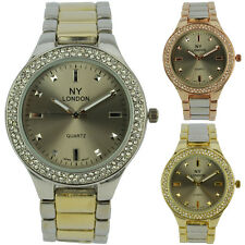 Fashion Ladies Party Wear Bling Crystal Bezel Gents NY London Unisex Watch New