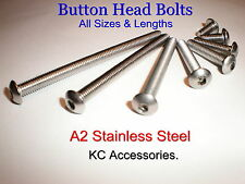 Stainless Steel Button Head Allen Screws Bolts M3,M4,M5,M6,M8.