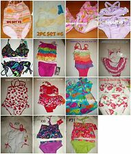 * NWT NEW GIRLS SWIMSUIT SET MULTI SIZES & SYTLES 12m 18m 2T 3T 4T 5 6x