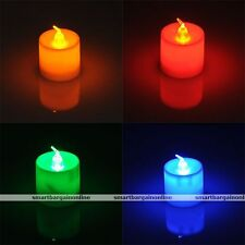 LED Battery Operated Flameless Candles Tea Light Lamp Wedding Bedroom Decoration