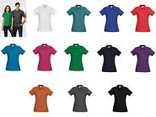 Crew Polo Shirt Top Ladies P400LS Sport Office Womens Casual Business Corporate