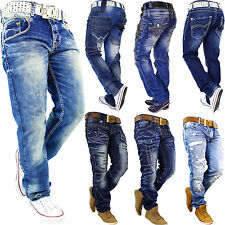 RedBridge by Cipo Baxx Mens Herren Hose Jeans Pants Straight Cut Freizeithose &