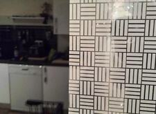 Patterned Decorative White Frosted Window Film - Privacy Frosted Glass Film CUBI