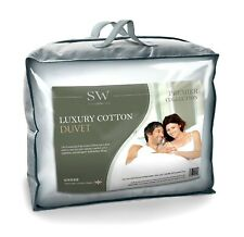 LUXURY EGYPTIAN COTTON SINGLE BED DUVET QUILT, ALL TOGS, 100% COTTON, UK MADE