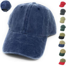 Washed Cotton Plain Blank Two Tone Baseball Low Crown 6 Panel Cap Caps Hat Hats