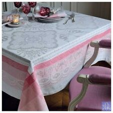 BEAUTIFUL GARNIER-THIEBAUT MATHILDE FRENCH TABLECLOTH IN ROSE COLOR--GREEN SWEET