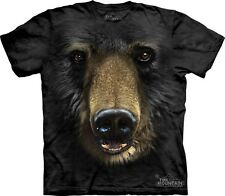 Big Face Black Bear T-Shirt by The Mountain Company. Grizzly Sizes S-5XL NEW