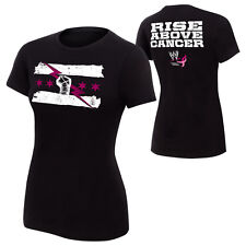 WWE Authentic CM PUNK Rise Above Cancer WOMENS Black T-Shirt - BRAND NEW