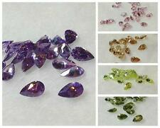 AA GRADE - LAB CZ COLORED PEAR LOOSES-LOT OF 100 (3x5mm/4x6mm/5x7mm)