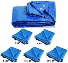 All Sizes Tarpaulin Ground Sheet Waterproof Shed Rain Cover Camping Tarp Tent