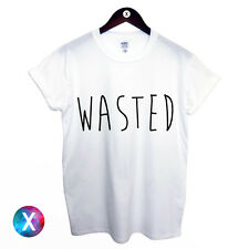 WASTED T SHIRT PRINTED MENS TEE YOUTH HIPSTER SWAG MEN BOY HYPE DOPE TOP WOMENS